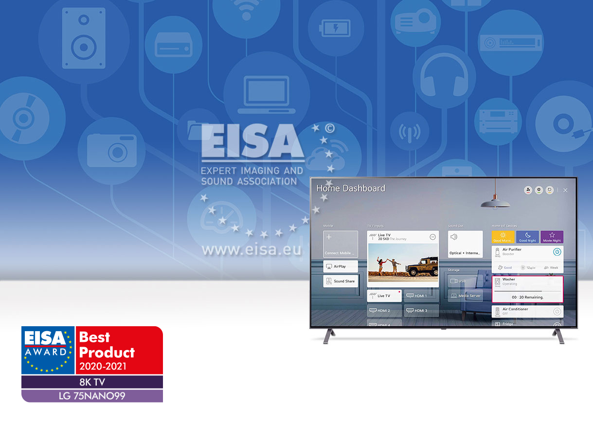 EISA 8K TV 2020-2021